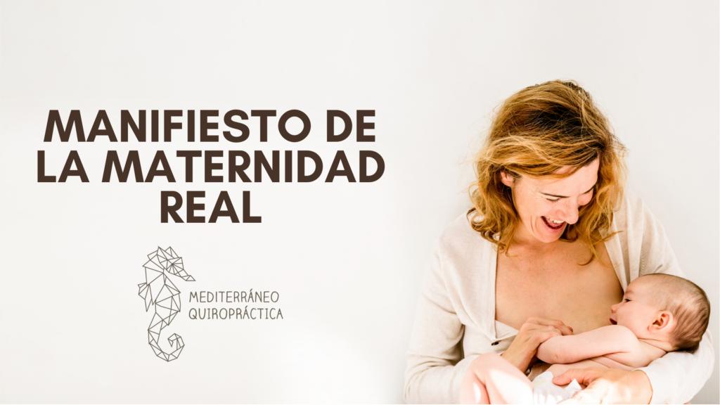 Banner Manifiesto de la maternidad real